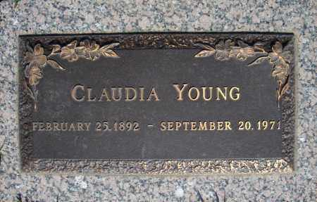 YOUNG, CLAUDIA - Faulkner County, Arkansas | CLAUDIA YOUNG - Arkansas Gravestone Photos