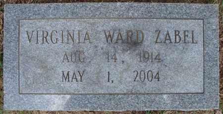 WARD ZABEL, VIRGINIA - Faulkner County, Arkansas | VIRGINIA WARD ZABEL - Arkansas Gravestone Photos