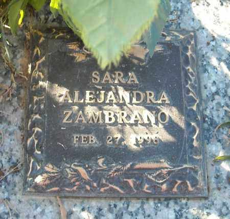 ZAMBRANO, SARA ALEJANDRA - Faulkner County, Arkansas | SARA ALEJANDRA ZAMBRANO - Arkansas Gravestone Photos