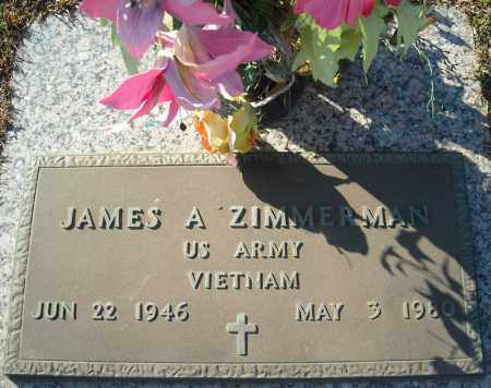 ZIMMERMAN (VETERAN VIET), JAMES A - Faulkner County, Arkansas | JAMES A ZIMMERMAN (VETERAN VIET) - Arkansas Gravestone Photos