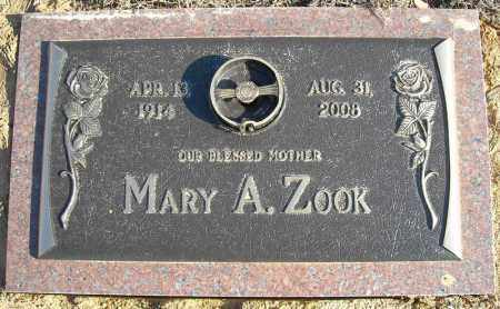 ZOOK, MARY A. - Faulkner County, Arkansas | MARY A. ZOOK - Arkansas Gravestone Photos