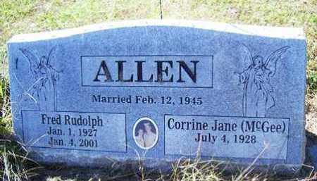 ALLEN, FRED RUDOLPH - Franklin County, Arkansas | FRED RUDOLPH ALLEN - Arkansas Gravestone Photos
