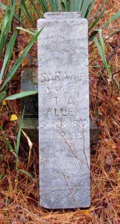 ALLEN, SARAH F - Franklin County, Arkansas | SARAH F ALLEN - Arkansas Gravestone Photos
