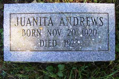 ANDREWS, JUANITA - Franklin County, Arkansas | JUANITA ANDREWS - Arkansas Gravestone Photos