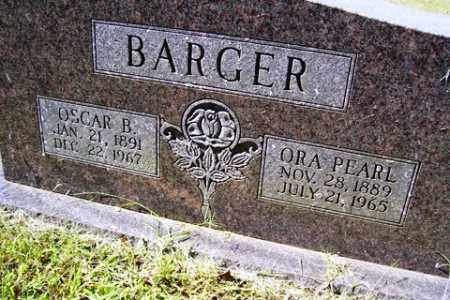 BARGER, ORA PERAL - Franklin County, Arkansas | ORA PERAL BARGER - Arkansas Gravestone Photos