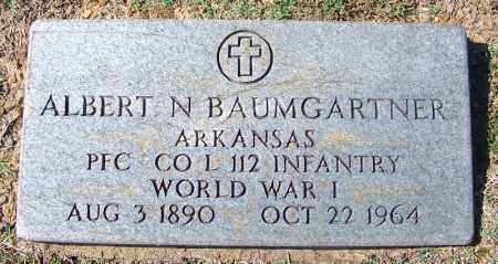 BAUMGARTNER (VETERAN WWI), ALBERT N - Franklin County, Arkansas | ALBERT N BAUMGARTNER (VETERAN WWI) - Arkansas Gravestone Photos
