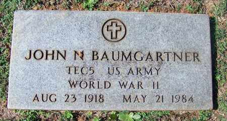 BAUMGARTNER (VETERAN WWII), JOHN N - Franklin County, Arkansas | JOHN N BAUMGARTNER (VETERAN WWII) - Arkansas Gravestone Photos