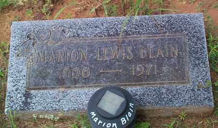 BLAIN, MARION LEWIS - Franklin County, Arkansas | MARION LEWIS BLAIN - Arkansas Gravestone Photos