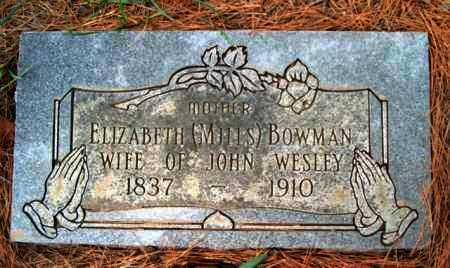 BOWMAN, ELIZABETH - Franklin County, Arkansas | ELIZABETH BOWMAN - Arkansas Gravestone Photos