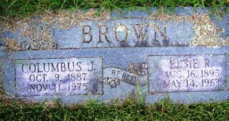 BROWN, COLUMBUS J - Franklin County, Arkansas | COLUMBUS J BROWN - Arkansas Gravestone Photos