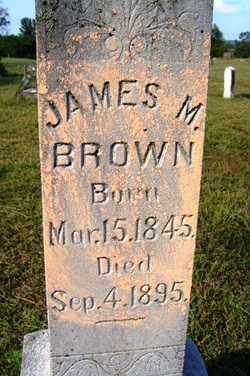 BROWN, JAMES M - Franklin County, Arkansas | JAMES M BROWN - Arkansas Gravestone Photos