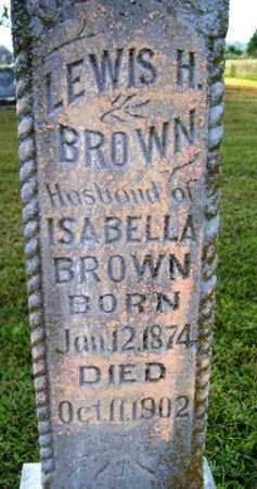 BROWN, LEWIS H - Franklin County, Arkansas | LEWIS H BROWN - Arkansas Gravestone Photos