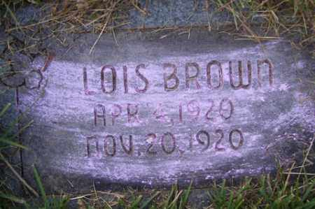 BROWN, LOIS - Franklin County, Arkansas | LOIS BROWN - Arkansas Gravestone Photos