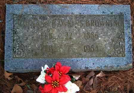 HAWKINS BROWNING, JOHNANN - Franklin County, Arkansas | JOHNANN HAWKINS BROWNING - Arkansas Gravestone Photos