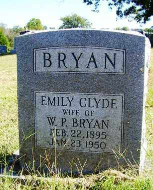 BRYAN, EMILY CLYDE - Franklin County, Arkansas | EMILY CLYDE BRYAN - Arkansas Gravestone Photos