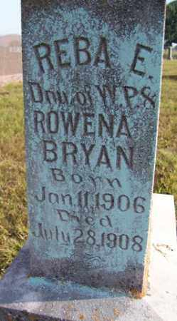 BRYAN, REBA E - Franklin County, Arkansas | REBA E BRYAN - Arkansas Gravestone Photos