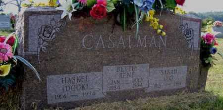 CASALMAN, BETTIE RENE - Franklin County, Arkansas | BETTIE RENE CASALMAN - Arkansas Gravestone Photos