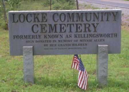*LOCKE CEMETERY ENTRANCE SIGN,  - Franklin County, Arkansas |  *LOCKE CEMETERY ENTRANCE SIGN - Arkansas Gravestone Photos