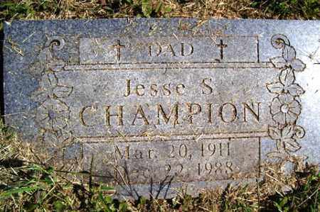 CHAMPION, JESSE S - Franklin County, Arkansas | JESSE S CHAMPION - Arkansas Gravestone Photos
