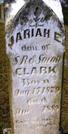 CLARK, JARIAH E - Franklin County, Arkansas | JARIAH E CLARK - Arkansas Gravestone Photos