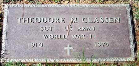CLASSEN (VETERAN WWII), THEODORE M - Franklin County, Arkansas | THEODORE M CLASSEN (VETERAN WWII) - Arkansas Gravestone Photos