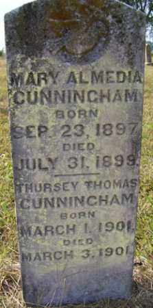 CUNNINGHAM, MARY ALMEDIA - Franklin County, Arkansas | MARY ALMEDIA CUNNINGHAM - Arkansas Gravestone Photos