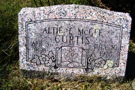 MCGEE CURTIS, ALTIE THEO ROGERS - Franklin County, Arkansas | ALTIE THEO ROGERS MCGEE CURTIS - Arkansas Gravestone Photos
