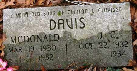 DAVIS, MCDONALD - Franklin County, Arkansas | MCDONALD DAVIS - Arkansas Gravestone Photos