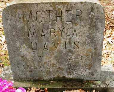 DAVIS, MARY A - Franklin County, Arkansas | MARY A DAVIS - Arkansas Gravestone Photos