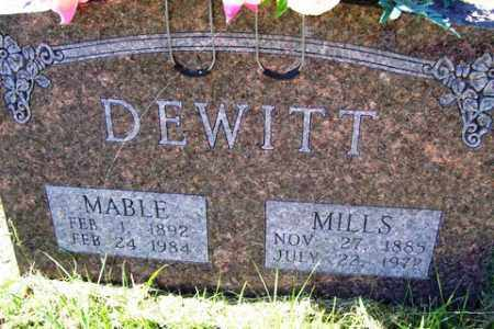 DEWITT, MILLS - Franklin County, Arkansas | MILLS DEWITT - Arkansas Gravestone Photos