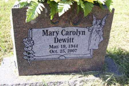 DEWITT, MARY CAROLYN - Franklin County, Arkansas | MARY CAROLYN DEWITT - Arkansas Gravestone Photos