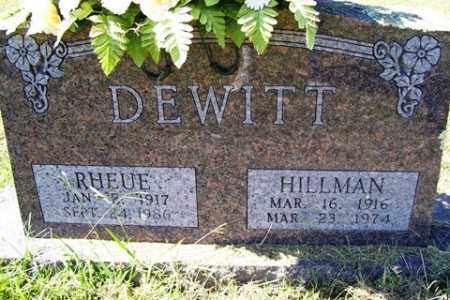 DEWITT, EARL HILLMAN - Franklin County, Arkansas | EARL HILLMAN DEWITT - Arkansas Gravestone Photos