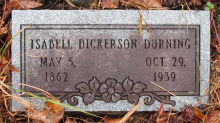 DICKERSON DURNING, ISABELL - Franklin County, Arkansas | ISABELL DICKERSON DURNING - Arkansas Gravestone Photos