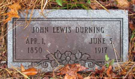 DURNING, JOHN LEWIS - Franklin County, Arkansas | JOHN LEWIS DURNING - Arkansas Gravestone Photos