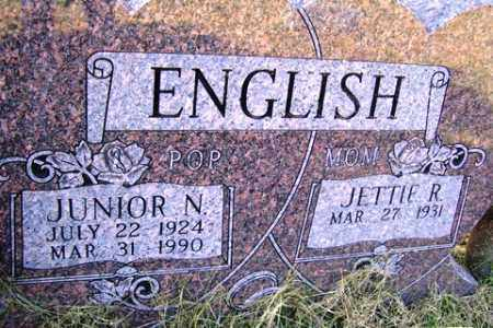 ENGLISH, JUNIOR N. - Franklin County, Arkansas | JUNIOR N. ENGLISH - Arkansas Gravestone Photos