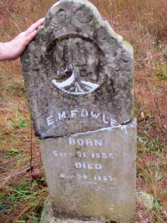 FOWLER, E M - Franklin County, Arkansas | E M FOWLER - Arkansas Gravestone Photos