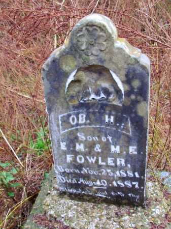 FOWLER, O B  H - Franklin County, Arkansas | O B  H FOWLER - Arkansas Gravestone Photos