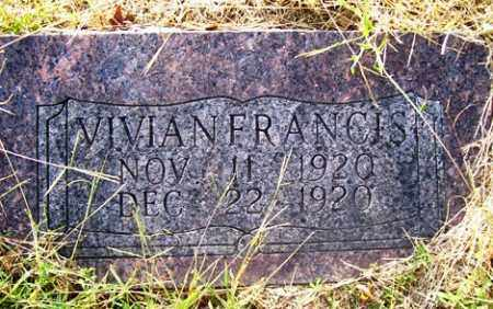 FRANCIS, VIVIAN - Franklin County, Arkansas | VIVIAN FRANCIS - Arkansas Gravestone Photos