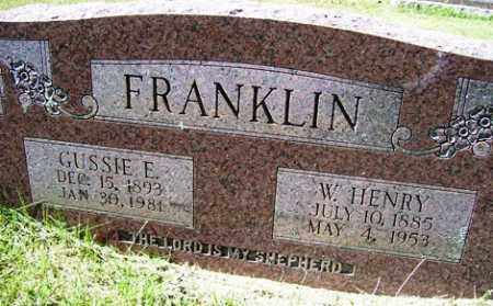 FRANKLIN, W. HENRY - Franklin County, Arkansas | W. HENRY FRANKLIN - Arkansas Gravestone Photos