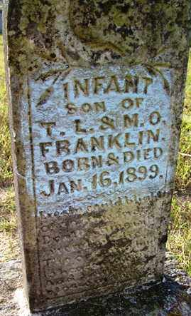 FRANKLIN, INFANT SON - Franklin County, Arkansas | INFANT SON FRANKLIN - Arkansas Gravestone Photos