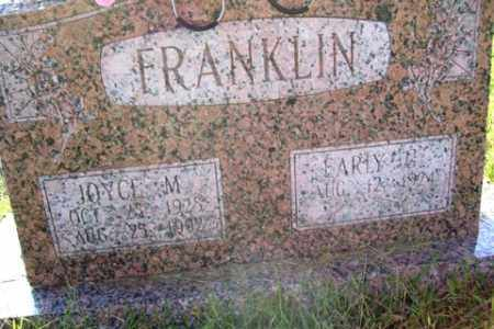 FRANKLIN, JOYCE M. - Franklin County, Arkansas | JOYCE M. FRANKLIN - Arkansas Gravestone Photos