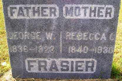FRASIER, GEORGE W. - Franklin County, Arkansas | GEORGE W. FRASIER - Arkansas Gravestone Photos