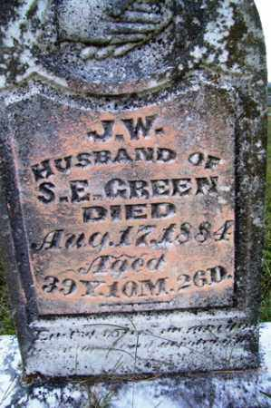 GREEN, J  W - Franklin County, Arkansas | J  W GREEN - Arkansas Gravestone Photos