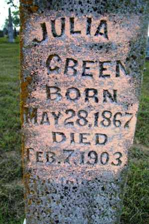 GREEN, JULIA - Franklin County, Arkansas | JULIA GREEN - Arkansas Gravestone Photos