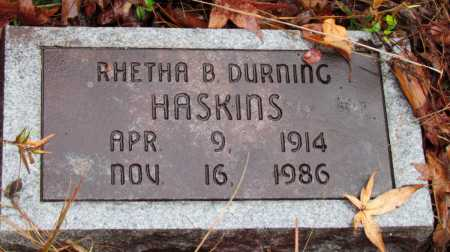 HASKINS, RHETHA B - Franklin County, Arkansas | RHETHA B HASKINS - Arkansas Gravestone Photos