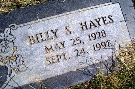 HAYES, BILLY S. - Franklin County, Arkansas | BILLY S. HAYES - Arkansas Gravestone Photos
