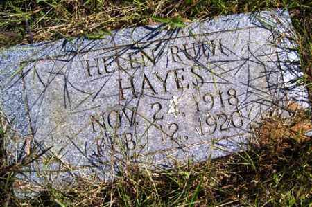 HAYES, HELEN RUTH - Franklin County, Arkansas | HELEN RUTH HAYES - Arkansas Gravestone Photos