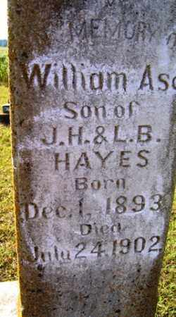 HAYES, WILLIAM ASA - Franklin County, Arkansas | WILLIAM ASA HAYES - Arkansas Gravestone Photos
