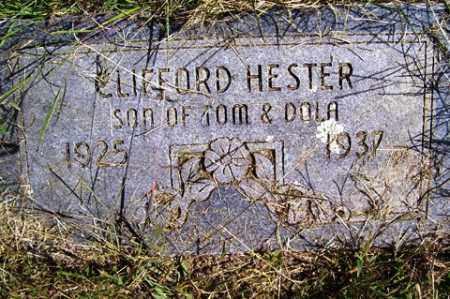 HESTER, CLIFFORD - Franklin County, Arkansas | CLIFFORD HESTER - Arkansas Gravestone Photos