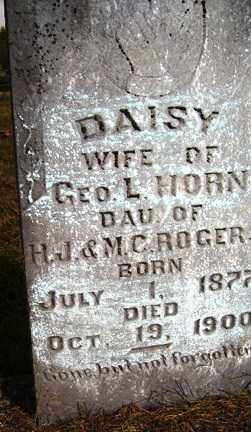 ROGERS HORN, DAISY - Franklin County, Arkansas | DAISY ROGERS HORN - Arkansas Gravestone Photos
